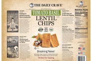 TOMATO BASIL FLAVORED LENTIL CHIPS