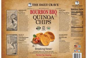 BOURBON BBQ FLAVORED QUINOA CHIPS
