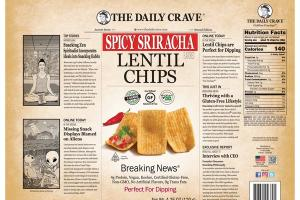 SPICY SRIRACHA LENTIL CHIPS