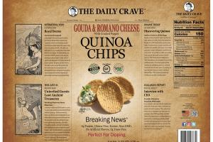 GOUDA & ROMANO CHEESE WITH CRACKED PEPPER QUINOA CHIPS