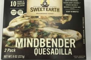 MINDBENDER EARTHY MUSHROOMS, TUSCAN SAVORY GROUNDS, SPINACH AND MELTY MOZZARELLA & PEPPER JACK QUESADILLA