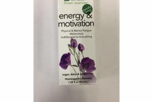 ENERGY & MOTIVATION HOMEOPATHIC REMEDY