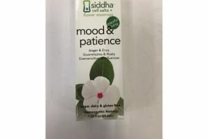 MOOD & PATIENCE HOMEOPATHIC REMEDY