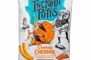 CHEESY CHEDDAR A SHARP AND TANGY TANGO FOR YOUR TASTEBUDS IN A WHOLESOME, CRAVEABLE SNACK