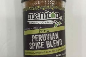PERUVIAN SPICE BLEND SPICY CHILE, FRAGRANT LIME LEAF, & WARM SPICES
