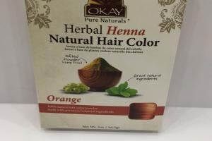 Herbal Henna Natural Hair Color, Orange