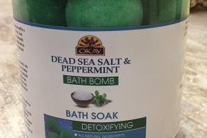 Dead Sea Salt & Peppermint Bath Bomb