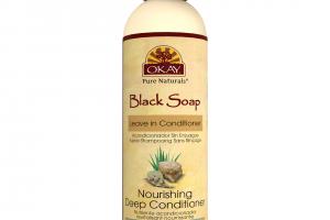 BLACK SOAP NOURISHING DEEP LEAVE IN CONDITIONER WITH SHEA, OLIVE, COCONUT, ALOE VERA & COCOA