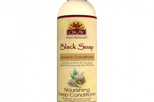 BLACK SOAP NOURISHING DEEP LEAVE IN CONDITIONER WITH SHEA, OLIVE, COCONUT, ALOE VERA & COCOA