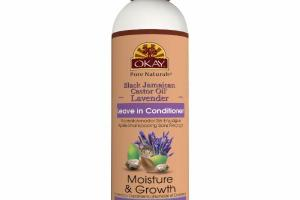 MOISTURE & GROWTH LEAVE IN CONDITIONER WITH BLACK JAMAICAN CASTOR OIL & ARGAN OIL, LAVENDER