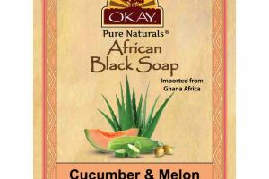 AFRICAN BLACK SOAP, CUCUMBER & MELON