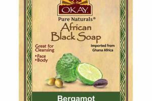 AFRICAN BLACK SOAP, BERGAMOT