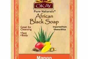 AFRICAN BLACK SOAP, MANGO