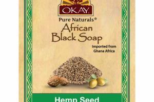 AFRICAN BLACK SOAP, HEMP SEED