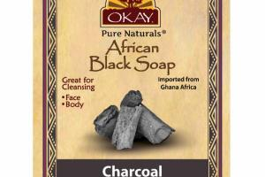AFRICAN BLACK SOAP, CHARCOAL