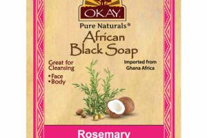 AFRICAN BLACK SOAP, ROSEMARY