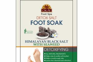 HIMALAYAN BLACK SALT WITH SEAWEED DETOXIFYING FOOT SOAK