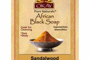 AFRICAN BLACK SOAP, SANDALWOOD