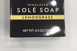 Himalayan Sole Soap, Lemongrass