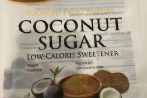COCONUT SUGAR LOW-CALORIE NATURAL SWEETENER