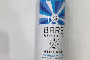Mineral Vanilla - Coco Sunscreen Spray