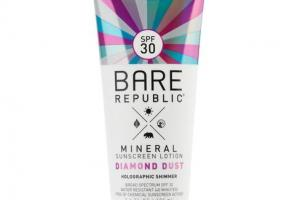 BROAD SPECTRUM SPF 30 HOLOGRAPHIC SHIMMER MINERAL SUNSCREEN LOTION, DIAMOND DUST