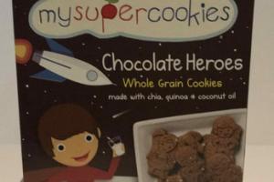 CHOCOLATE HEROES ORGANIC WHOLE GRAIN COOKIES