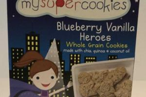 ORGANIC BLUEBERRY VANILLA HEROES WHOLE GRAIN COOKIES