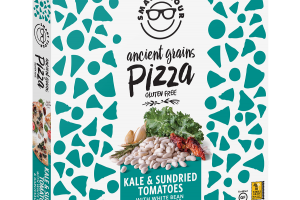Kale & Sundried Tomatoes With White Bean & Garlic Sauce Ancient Grains Pizza