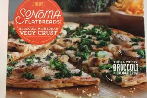 Broccoli & Cheddar Vegy Crust Pizza