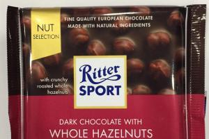 Dark Chocolate With Whole Hazelnuts