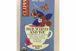RASPBERRY FLAVORED ORGANIC WHITE TEA