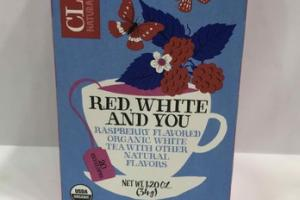 RED, WHITE AND YOU RASPBERRY FLAVORED ORGANIC WHITE TEA