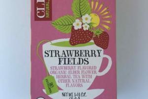STRAWBERRY FLAVORED FIELDS ORGANIC ELDER FLOWER HERBAL TEA