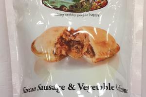 Tuscan Sausage & Vegetable Calzone