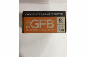 CHOCOLATE + PEANUT BUTTER GLUTEN FREE BAR