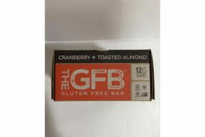 CRANBERRY + TOASTED ALMOND GLUTEN FREE BAR