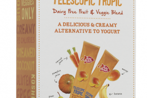 Telescopic Tropic Dairy Free Fruit & Veggie Blend Yogurt Alternative Tubes