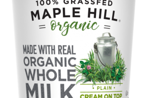 PLAIN UNSWEETENED ORGANIC 100% GRASSFED WHOLE MILK CREAM ON TOP YOGURT