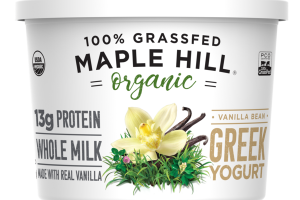 ORGANIC 100% GRASSFED VANILLA BEAN GREEK YOGURT
