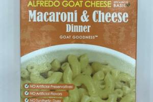 ALFREDO GOAT CHEESE WITH A HINT OF BASIL MACARONI & CHEESE DINNER