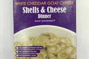 WHITE CHEDDAR GOAT CHEESE SHELLS & CHEESE DINNER