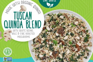 Tuscan Quinoa Blend With White Beans, Kale & Fire Roasted Mushrooms