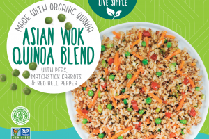 Asian Wok Quinoa Blend With Peas, Matchstick Carrots & Red Bell Pepper