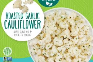 Roasted Garlic Cauliflower With Olive Oil & Roasted Garlic