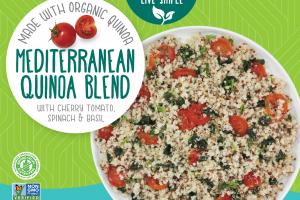 Mediterranean Quinoa Blend With Cherry Tomato, Spinach & Basil
