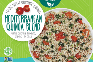 Mediterranean Quinoa Blend With Cherry Tomato, Spinach & Basil