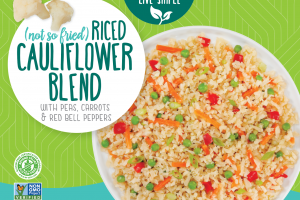 Riced Cauliflower Blend With Peas, Carrots & Red Bell Peppers