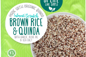 BROWN RICE & QUINOA WITH GARLIC, OLIVE OIL & SEA SALT