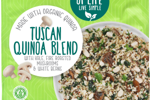 TUSCAN QUINOA BLEND WITH KALE, FIRE ROASTED MUSHROOMS & WHITE BEANS